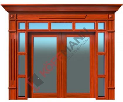 Cửa thép vân gỗ Luxury KLT-3VK