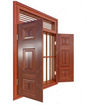 Cửa sổ thép vân gỗ KGS2.CS1-NC(2)