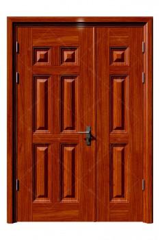 Cửa thép vân gỗ KG-21.04.04-1