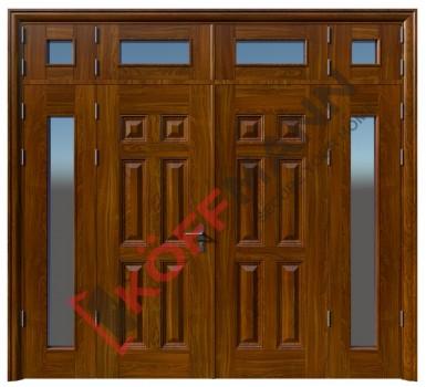 Cửa thép vân gỗ KG-414TK-1